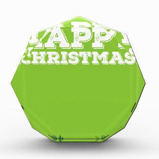 Muestra de las felices Navidad con los muérdagos