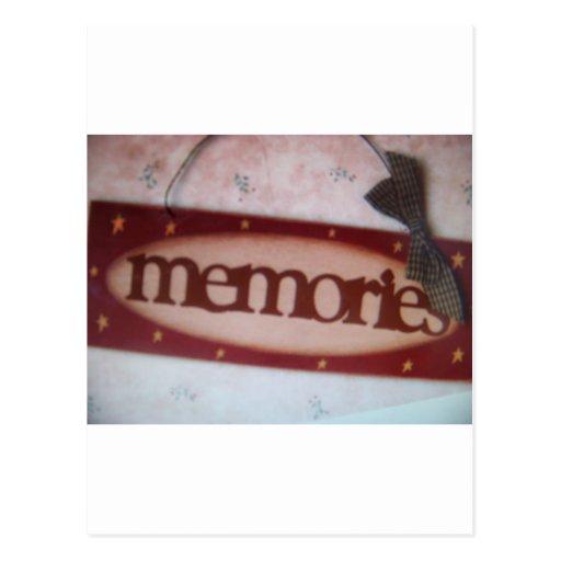 muestra de las memorias postales