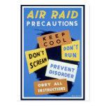 Muestra de las precauciones del ataque aéreo (1943 tarjetas postales