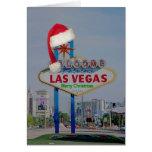 Muestra de Las Vegas con la tarjeta de las Felices