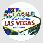 Muestra de Las Vegas Pegatina Redonda