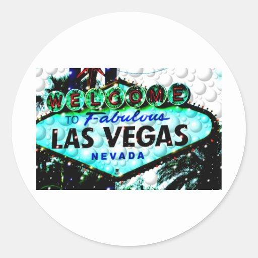 Muestra de Las Vegas Pegatinas Redondas