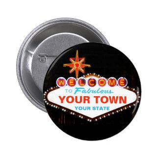 Muestra de Las Vegas Pin Redondo De 2 Pulgadas