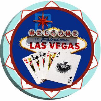 Muestra de Las Vegas y ficha de póker de las tarje Fotoescultura Vertical