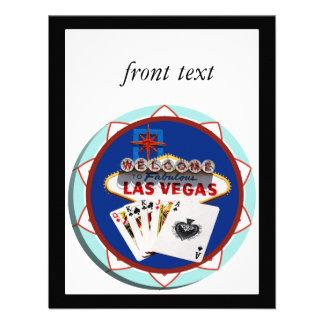 Muestra de Las Vegas y ficha de póker de las tarje Comunicados