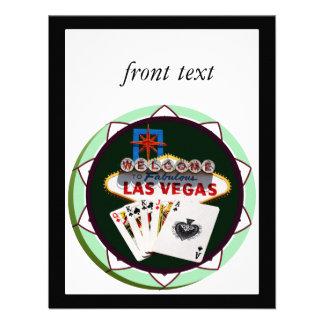 Muestra de Las Vegas y ficha de póker de las tarje Anuncio Personalizado