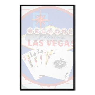 Muestra de Las Vegas y ficha de póker de las tarje Papeleria Personalizada