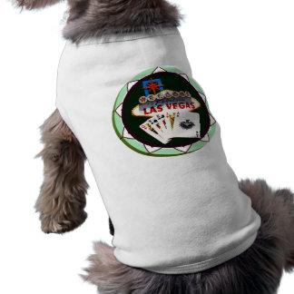 Muestra de Las Vegas y ficha de póker de las tarje Playera Sin Mangas Para Perro