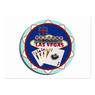 Muestra de Las Vegas y ficha de póker de las Tarjetas De Visita Grandes