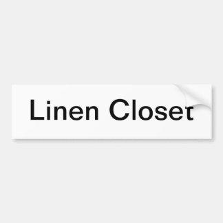 Muestra de lino de la puerta de armario pegatina de parachoque