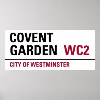 Muestra de Londres del jardín de Covent Póster