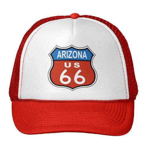 Muestra de los E.E.U.U. 66 de la ruta de Arizona Gorros