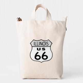 Muestra de los E.E.U.U. 66 de la ruta de Illinois Bolsa De Lona Duck