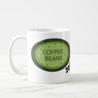Muestra de los granos de café taza clásica