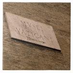 Muestra de los museos de Vatican, Roma, Italia Tejas Cerámicas