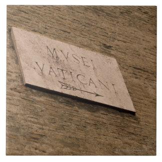 Muestra de los museos de Vatican, Roma, Italia Azulejo Cuadrado Grande