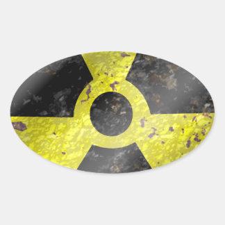 Muestra de los tiempos - radiación del arma pegatina ovalada