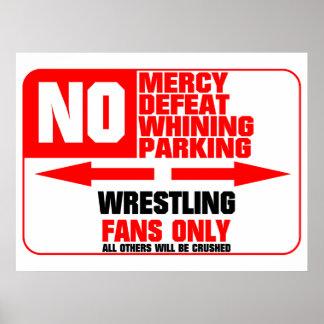 Muestra de lucha del estacionamiento prohibido póster