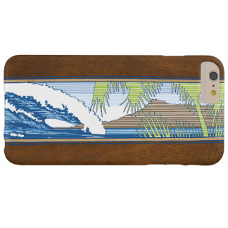 Muestra de madera hawaiana de la resaca de Moana Funda De iPhone 6 Plus Barely There