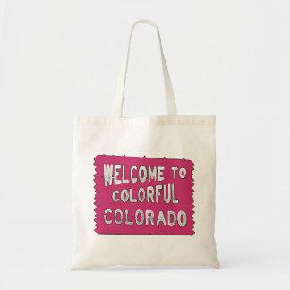 Muestra de madera rosada colorida de Colorado Bolsa Tela Barata