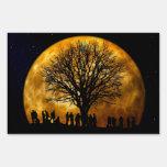 Muestra de medianoche de la yarda de la Luna Llena