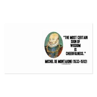 Muestra de Michel de Montaigne del Cheerfulness de Tarjetas De Visita