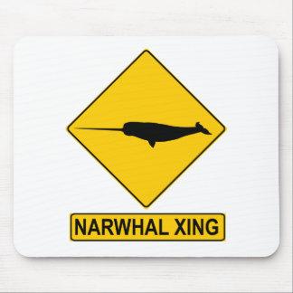 Muestra de Narwhal X-ing Alfombrilla De Ratones