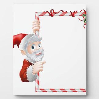 Muestra de Navidad del dibujo animado de Santa Placas Con Foto