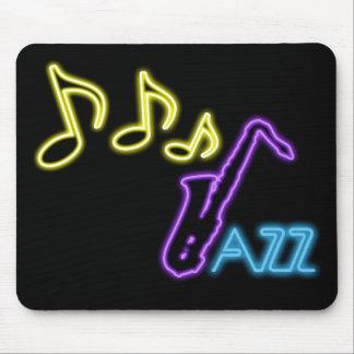 Muestra de neón de la barra del jazz tapete de raton