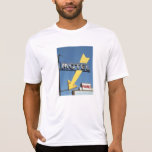 Muestra de neón de la flecha del motel camiseta