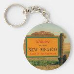 Muestra de New México Llavero Personalizado