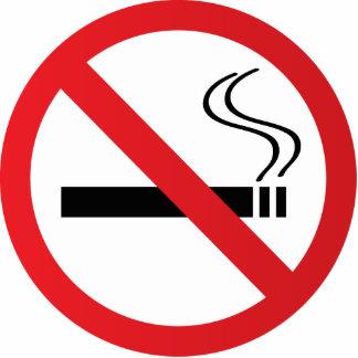 Muestra de no fumadores amonestadora