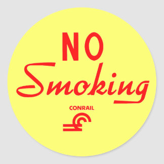 Muestra de no fumadores de Conrail Pegatina Redonda