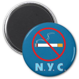 Muestra de no fumadores de New York City Imán Redondo 5 Cm
