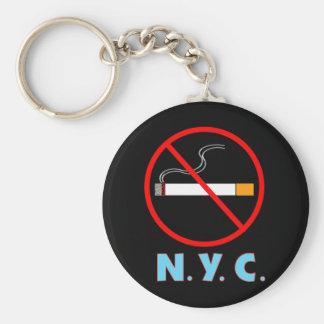 Muestra de no fumadores de New York City Llavero Redondo Tipo Pin