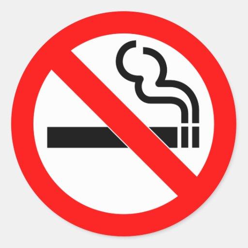 Muestra de no fumadores del símbolo oficial intern etiqueta