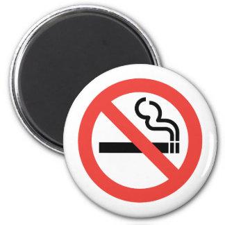 Muestra de no fumadores imán redondo 5 cm