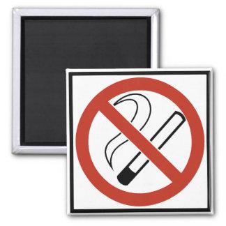 Muestra de no fumadores imán cuadrado