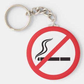 Muestra de no fumadores llavero redondo tipo pin