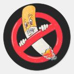 Muestra de no fumadores pegatina redonda