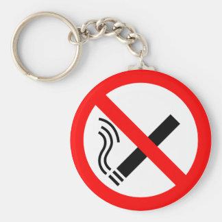 Muestra de no fumadores - señalización BRITÁNICA Llavero Redondo Tipo Pin
