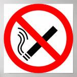 Muestra de no fumadores - señalización BRITÁNICA Poster
