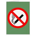 Muestra de no fumadores - señalización BRITÁNICA Felicitacion