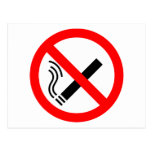 Muestra de no fumadores - señalización BRITÁNICA Tarjetas Postales