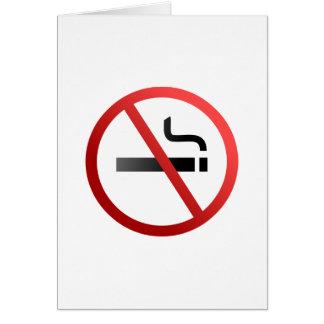 Muestra de no fumadores tarjeta de felicitación