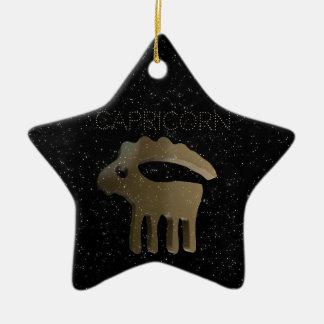 Muestra de oro del Capricornio Adorno Navideño De Cerámica En Forma De Estrella