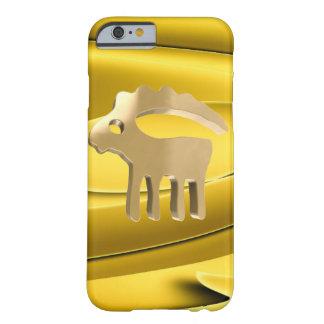 Muestra de oro del Capricornio Funda Barely There iPhone 6