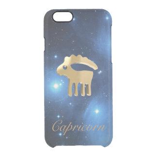 Muestra de oro del Capricornio Funda Clear Para iPhone 6/6S