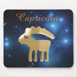 Muestra de oro del Capricornio Tapete De Ratón