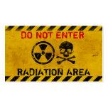 Muestra de peligro adaptable de radiación tarjeta personal